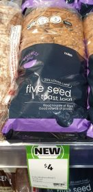 Coles 700g Wellness Road Toast Loaf Five Seed 1