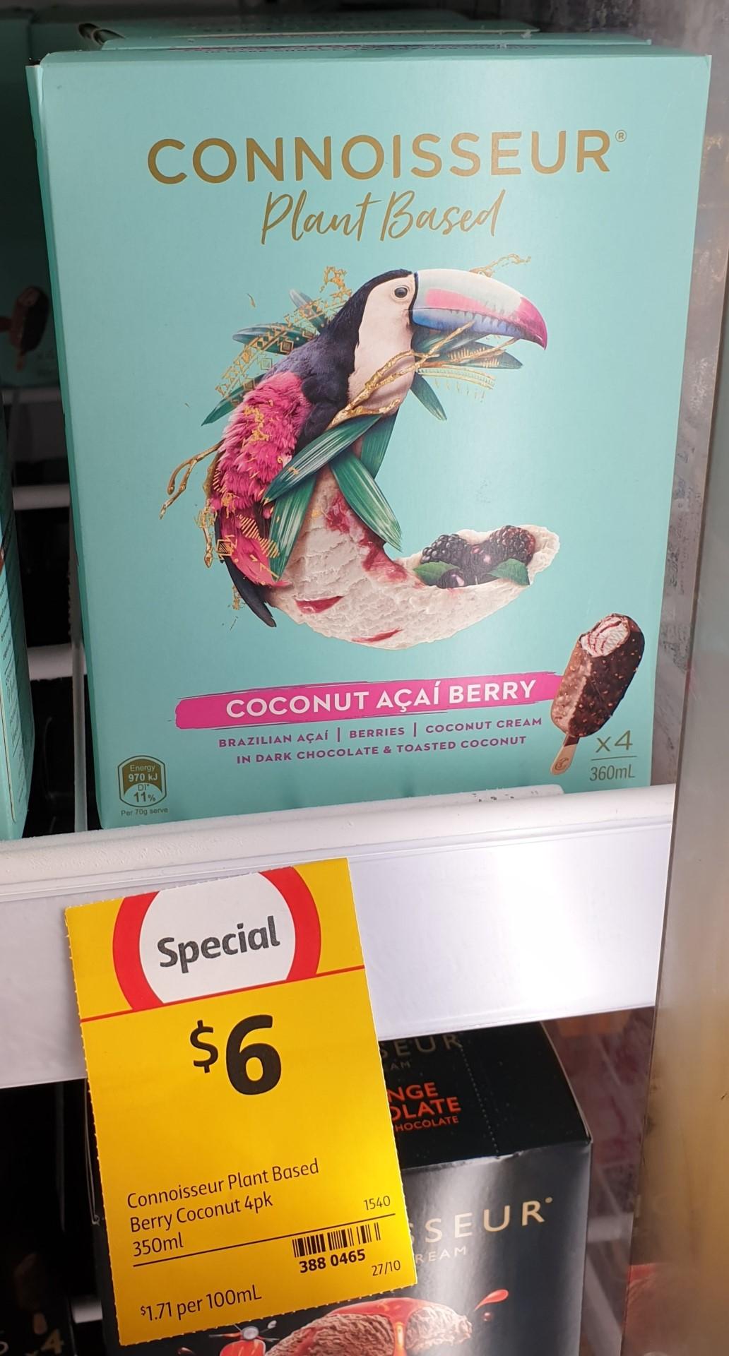 Connoisseur 350mL Plant Based Coconut Acai Berry