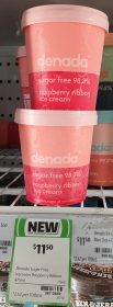 Denada 475mL Ice Cream Raspberry Ribbon 1