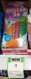 Dollar Sweets 125g Sprinkles Dollar 5s