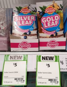 Dollar Sweets 2 Pack Leaf Silver, Gold