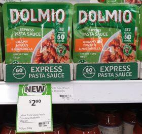 Dolmio 170g Pasta Sauce Express Creamy Tomato Mozzarella