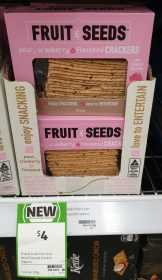 Fruit & Seeds 90g Crackers Pear, Cranberry & Flaxseed