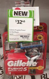 Gillette 4 Pack Fusion 5 Proglide