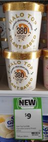 Halo Top 473mL Plant Based Caramel Chocolate Pretzel 1