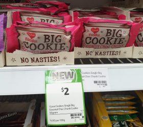 I Love Food Co 50g I Love Baking Big Cookie Coconut Choc Chunk