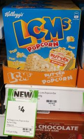 Kelloggs 108g LCMs Popcorn Butter Flavoured