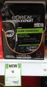 L'Oreal 1 Pack Purifying Tissue Mask Pure Charcoal