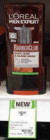 L'Oreal 300mL Barber Club Wash Body, Hair & Beard