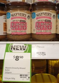 Mayvers 240g Almond Butter Smunchy