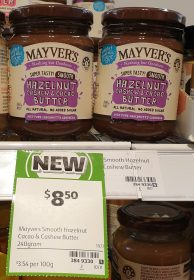 Mayvers 240g Hazelnut Cashew Cacao Butter Smooth