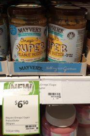 Mayvers 280g Peanut Butter Omega 3 Super