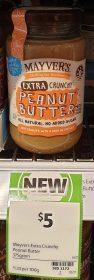 Mayvers 375g Peanut Butter Crunchy Extra