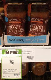 Mayvers 375g Peanut Butter Dark Roasted Extra Crunchy