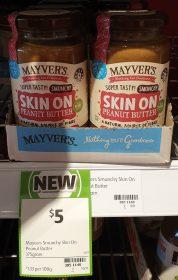 Mayvers 375g Peanut Butter Skin On Smunchy