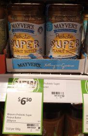 Mayvers 380g Peanut Butter Probiotic Super