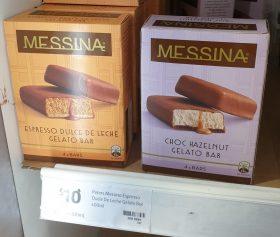 Messina 400mL Gelato Bar Espresso Dulce De Leche Choc Hazelnut 1