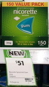 Nicorette 150 Pack Nicotine Gum 2mg