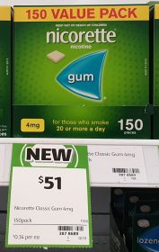 Nicorette 150 Pack Nicotine Gum 4mg