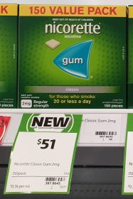 Nicorette 150 Pack Nicotine Gum Classic Regular Strength 2mg