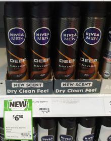 Nivea 250mL Men Antiperspirant Deep Black Carbon Espresso
