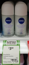 Nivea 50mL Anti Perspirant Sensitive Protect