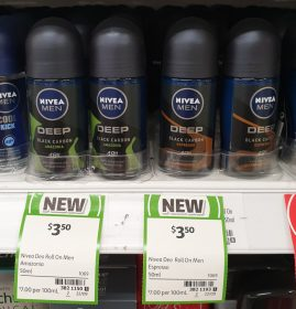 Nivea 50mL Men Anti Perspirant Black Carbon Amazonia, Espresso