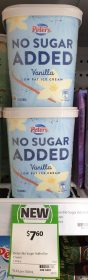 Peters 1.2L No Sugar Added Low Fat Ice Cream Vanilla 1