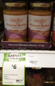 Plenty 375g Peanut Butter Smooth