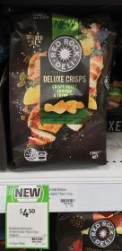 Red Rock Deli 135g Deluxe Crisps Potato Chips Crispy Roast Chicken Thyme Oil