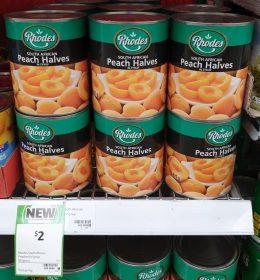Rhodes 825g Peach Halves In Syrup