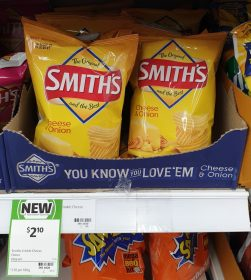 Smiths 60g Potato Chips Cheese Onion