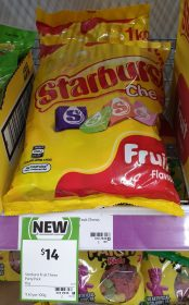 Starburst 1kg Chews Fruit Flavour