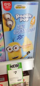 Streets 520mL Paddle Pop Icy Blast Minions 1