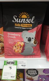 Sunsol 230g Cereal Kids Pro Biotic Stawberry Crunch 1