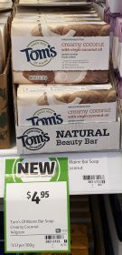 Toms Of Maine 141g Beauty Bar Creamy Coconut