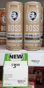 Boss Coffee 237mL Iced Vanilla Latte