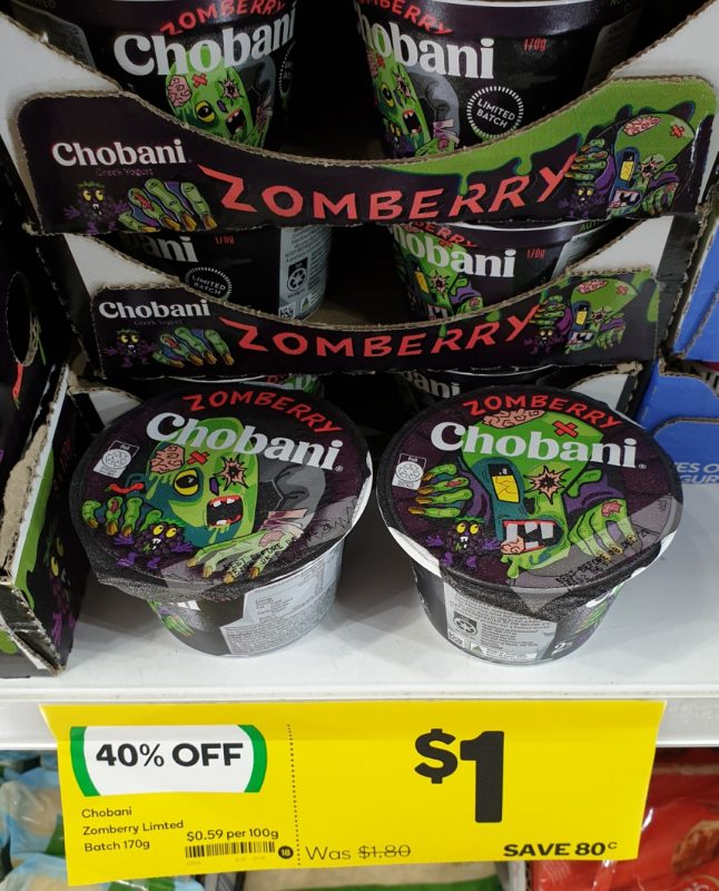 Chobani 170g Greek Yogurt Zomberry