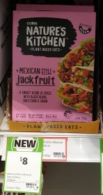 Coles 250g Natures Kitchen Jackfruit Mexican Style