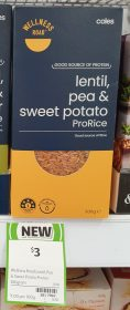 Coles 300g Wellness ProRice Lentil Pea Sweet Potato