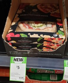 Coles 370g Finest Pizza Hand Stretched Chef Developed Provolone Margherita
