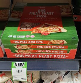 Coles 500g Pizza BBQ Meat Feast