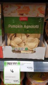 Coles 600g Pasta Pumpkin Agnolotti