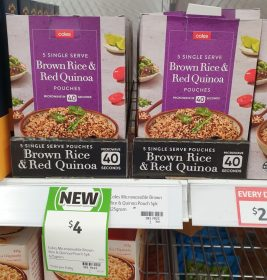 Coles 625g Pouches Brown Rice Red Quinoa