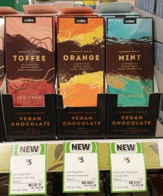 Coles 80g Chocolate Vegan Toffee Orange Mint