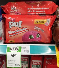 ETi 216g Puf Marshmallow Biscuit With Strawberry Sprinkles