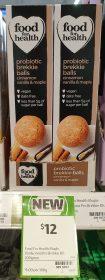 Food For Health 200g Probiotic Brekkie Balls Cinnamon Vanilla Maple