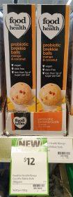 Food For Health 200g Probiotic Brekkie Balls Mango Coconut