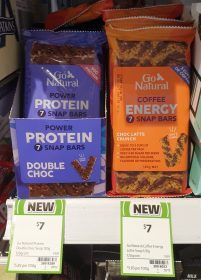 Go Natural 120g Snap Bars Power Protein Double Choc Coffee Energy Choc Latte Crunch