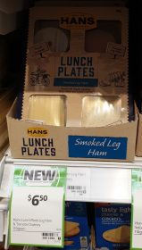 Hans 110g Lunch Plates Smoked Leg Ham Tomato Chutney